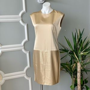 Worth Sequin And Silk Cocktail Dress Size 6